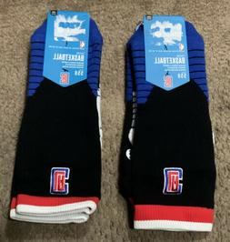NEW 1-Pr Stance Fusion Clippers Logo Crew Basketball Socks,