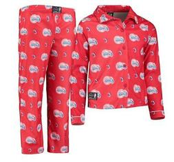 L.A. Clippers UNK Youth All Over Two-Piece Pajama Set - Red