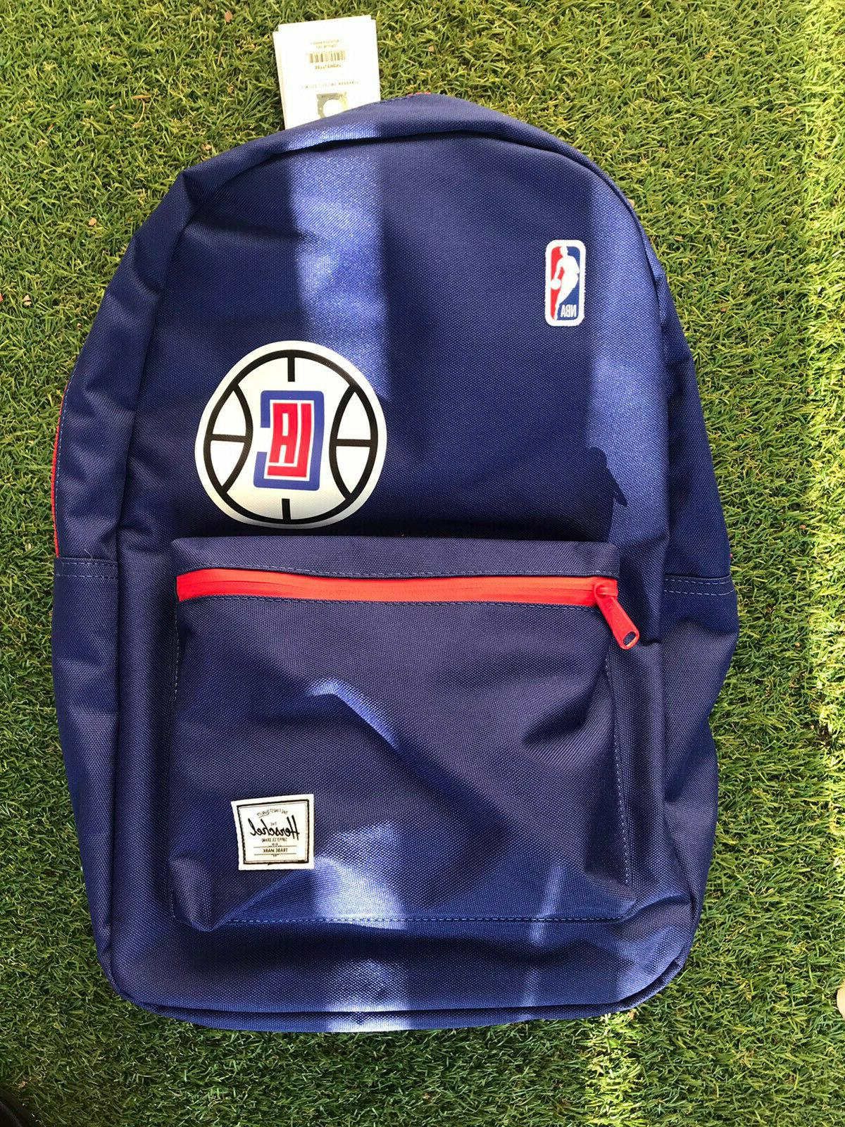 brand new los angeles clippers backpack blue