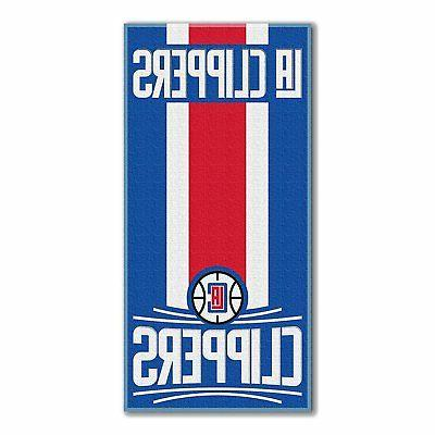 los angeles clippers large 30 x60 beach