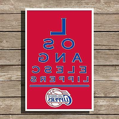 los angeles clippers poster nba basketball eyechart