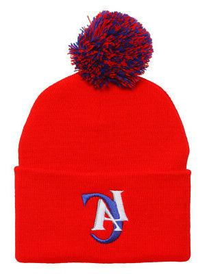 los angeles clippers red cuffed beanie w