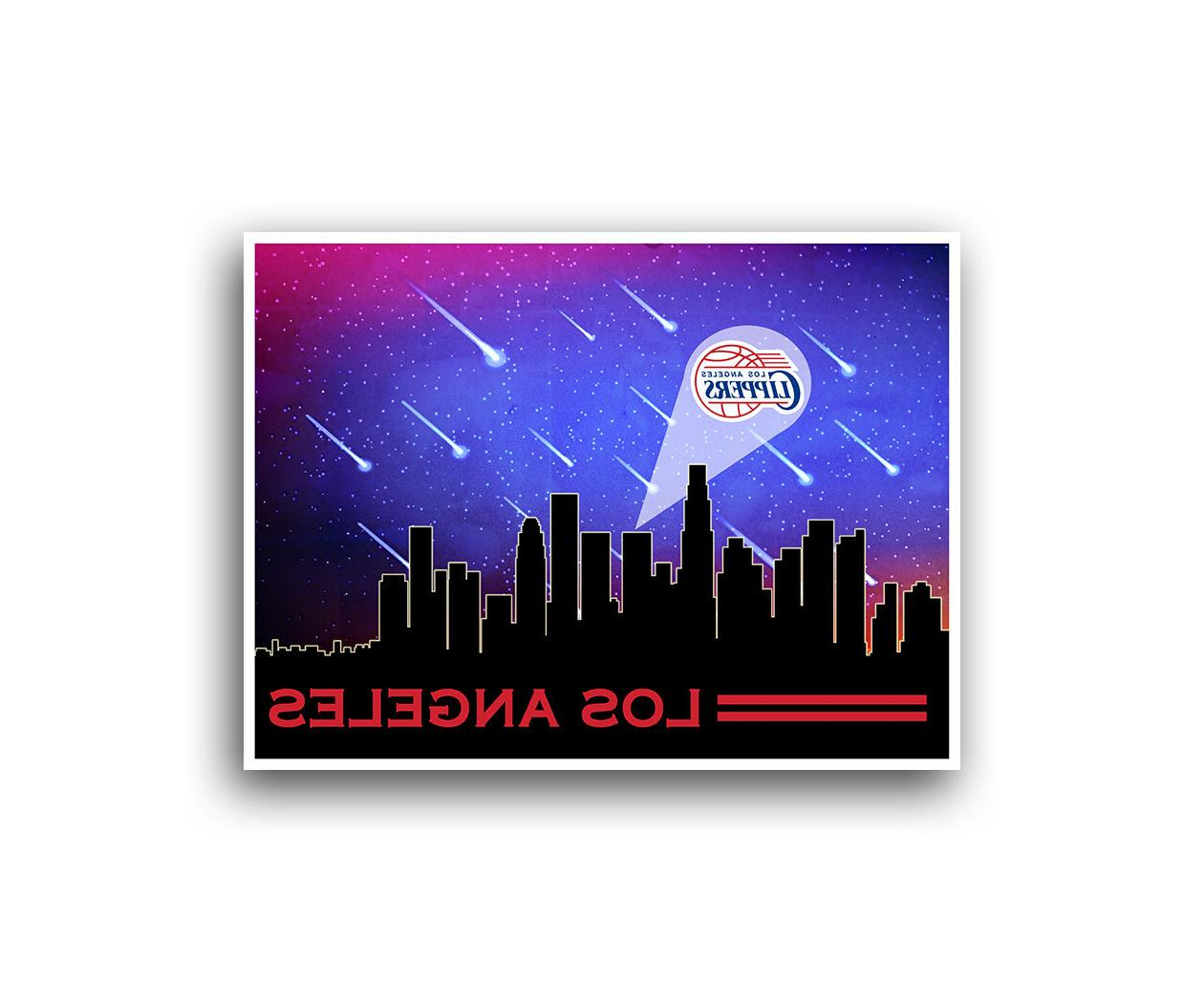 los angeles la clippers poster city skyline