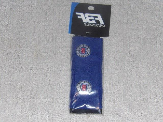 nba los angeles clippers wristband pair blue