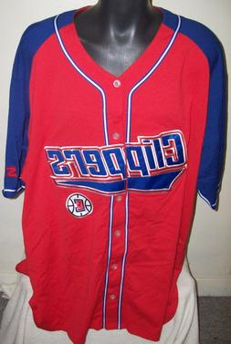 LOS ANGELES CLIPPERS Starter Baseball Jersey RED & BLUE w se