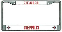 Los Angeles Clippers Chrome Frame Metal License Plate Tag Co