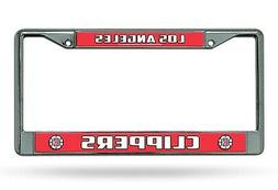 Los Angeles Clippers LBL Chrome Frame Metal License Plate Ta