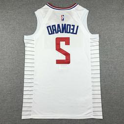 Los Angeles Clippers Leonard  2# Jersey White