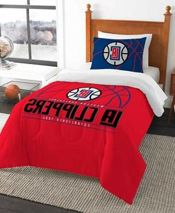 Los Angeles Clippers NBA Basketball Twin Comforter & Pillow