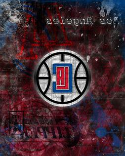 los angeles clippers poster clippers basketball print