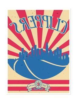 los angeles clippers poster sunset design art