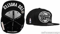 NBA Los Angeles Clippers Mitchell and Ness Black & White Sna