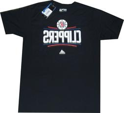 New adidas Los Angeles Clippers Primary Logo Black T Shirt