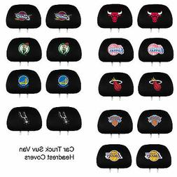 New NBA Pick Your Team Car Truck Suv Embroidered Headrest Co