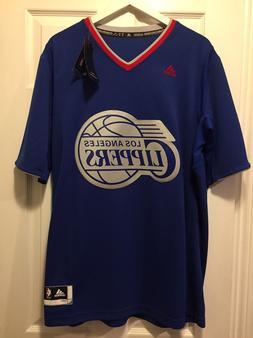 NWT NBA Los Angeles Clippers 100% Authentic Adidas Blank Jer
