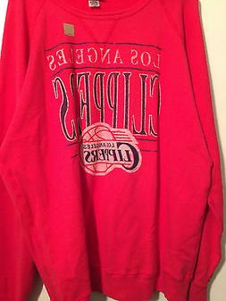 NWT NBA Los Angeles Clippers 2XL Red Sweater Junk Food USA 1